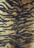 Tiger Print Stretch Velvet Spandex Fabric with Lycra