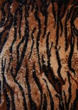 Brown Tiger Print Velvet Foil