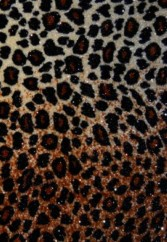 Cheetah Print Stretch Velvet Foil Spandex Fabric with Lycra
