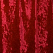 Red crushed panne velvet fabric