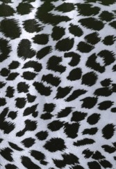 Snow Leopard Print Stretch Velvet Spandex Fabric with Lycra