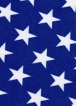 White Stars on Royal Blue Stretch Velvet Spandex Lycra fabric