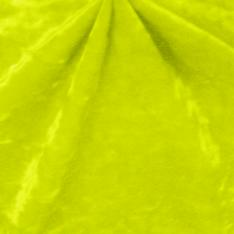 Yellow Crushed Panne Spandex Velvet